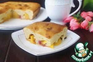 Рецепт Заливной пирог с персиками