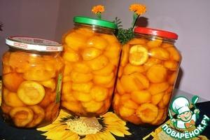 Рецепт Дольки персиков в сиропе на зиму