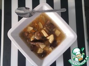 Рецепт Суп грибной с кабачками