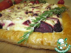 Рецепт Рецепт-Пирог со свёклою и козьим сыром