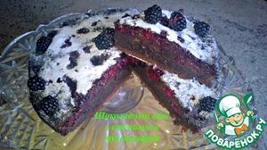 Рецепт Влажный шоколадный кекс с ежевикой в мультиварке