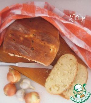 Рецепт Луковый хлеб на сыворотке