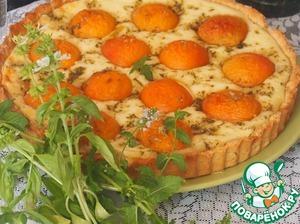 Рецепт Абрикосовый пирог с базиликовым сахаром