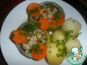 Рецепт Кабачок с овощами и куриной грудкой