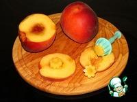 Двухслойный пирог с цветами из персиков ингредиенты