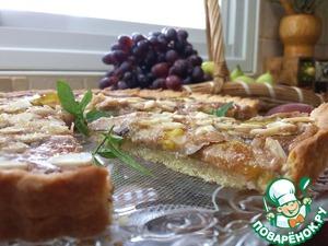 Рецепт Миндальный пирог с инжиром