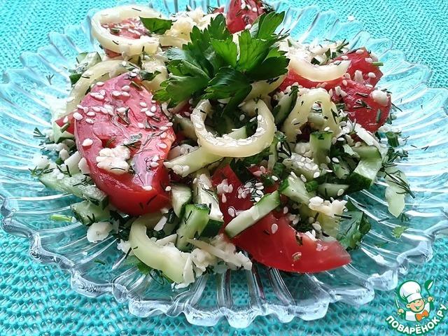 Легкий сытный салат рецепт с