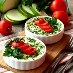 Клафути с цуккини и зеленым луком