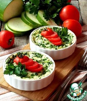 Рецепт Клафути с цуккини и зеленым луком