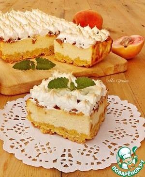 Рецепт Творожной пирог с персиками