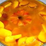 Персиковый торт-желе