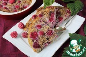 Рецепт Фруктово-ягодная запеканка из овсяных хлопьев c отрубями