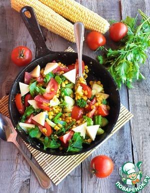 Рецепт Горячая овощная сковорода