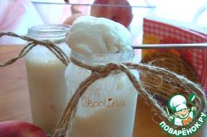 Рецепт Сырное мороженое с персиком
