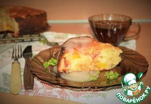 Рецепт Влажный нектариновый пирог с кислой глазурью