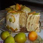 Торт с грушей