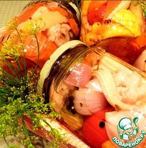 Рецепт Ассорти из овощей в пряном маринаде