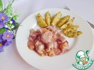 Рецепт Индейка в клюквенно-персиковом соусе