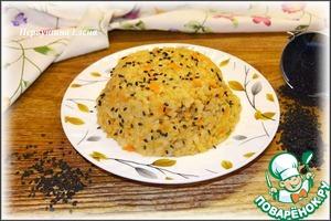 Рецепт Ризотто томатно-сырное с черным кунжутом