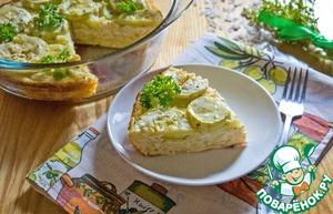 Рецепт Творожно-рисовая запеканка с мариноваными кабачками