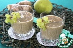 Рецепт Яблочный смузи с овсяными хлопьями и имбирем