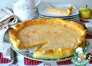 Рецепт Яблочно-ванильный тарт