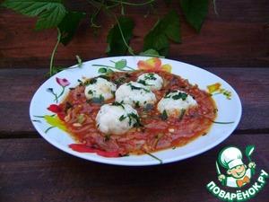 Рецепт Ленивые вареники в томатном соусе