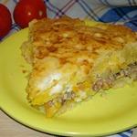 Пушистый пирог с консервированной сайрой