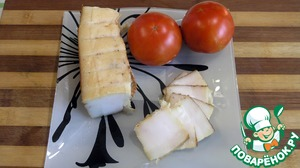 Рецепт Сало холодного копчения