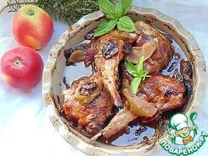 Медовый кролик с яблоками и красным луком вкусный пошаговый рецепт приготовления с фотографиями