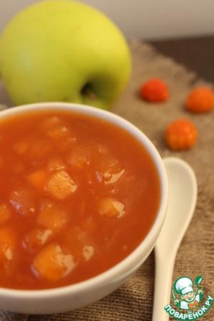Рецепт Яблочный конфитюр с морошкой и мартини