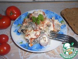 Рецепт Запеченная рыба с помидорами в СВЧ