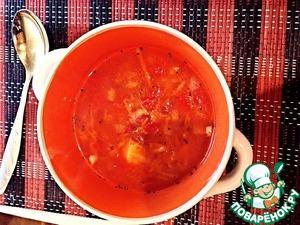 Рецепт Томатный суп с фасолью в мультиварке