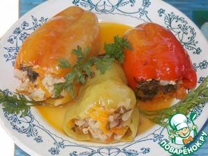 Рецепт Перец, фаршированный курицей и тыквой