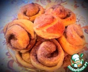 Рецепт Постные булочки с сахаром и корицей