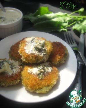 Рецепт Картофельные котлеты со щавелевым соусом