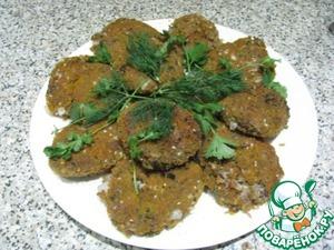 Рецепт Фасолевые котлеты с грецкими орехами и чесноком
