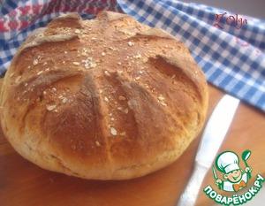 Рецепт Хлеб на сыворотке со смальцем и овсяными хлопьями