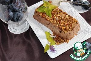 Рецепт Сливово-шоколадный террин с хрустящей гранолой