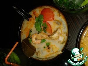 """Рецепт Восхитительный настоящий Тайский суп """"Том Ям"""""""