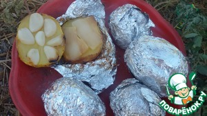 Рецепт Киндер-картошка в фольге с сюрпризом