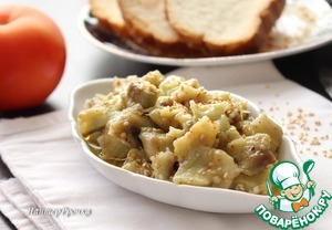 Рецепт Диетическая закуска из баклажан