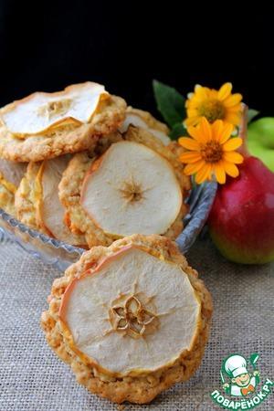 Рецепт Овсяное печенье с яблоком и грушей