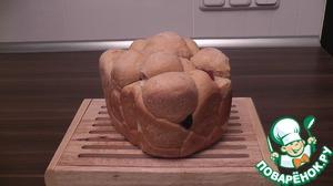 Рецепт Разборный хлеб с сыром и вялеными помидорами в хлебопечке