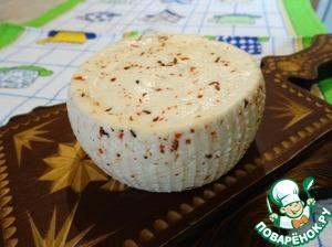 Рецепт Домашний сыр с паприкой и тмином