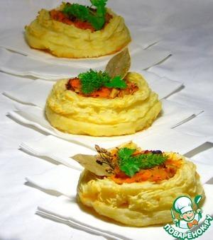Рецепт Овощная закуска с жареной малосоленой сельдью