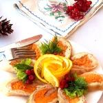 Куриный рулет с апельсиново-морковной начинкой