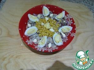 Рецепт Фасолевый салат с грибами