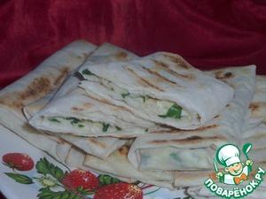 Рецепт Вкусный завтрак из лаваша с сыром