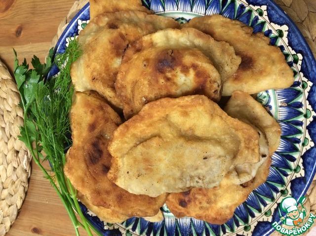 Чебуреки татарские рецепт с фото пошаговый